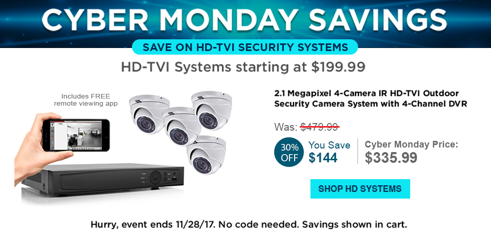 Shop HD-TVI Security Systems