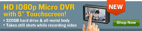 HD 1080p Micro DVR with 5 inch Touchscreen