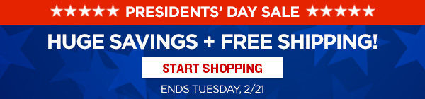 Save up to 52% for Presidents' Day