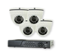 4 Camera/Outdoor IR varifocal dome cameras with DVR