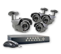 4 Camera/Outdoor IR varifocal bullet cameras with DVR