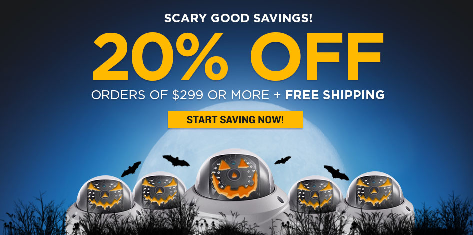 Halloween Sale - 20% Off Orders of $299 or More + Free Shipping