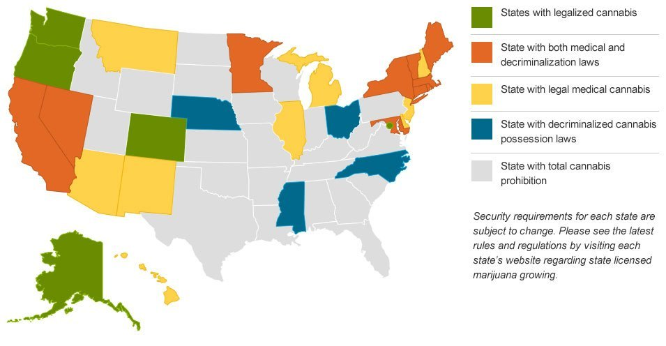 Security Requirements State Licensed Marijuana Growers