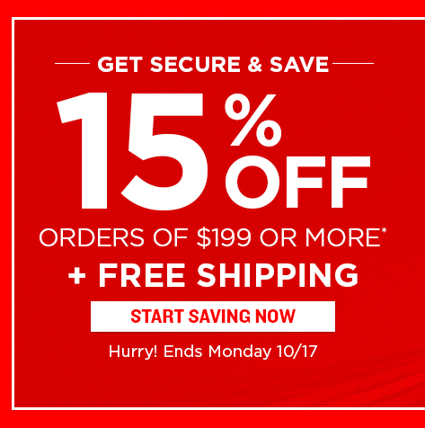 October Sale - 15% Off Orders of $199 or More + Free Shipping