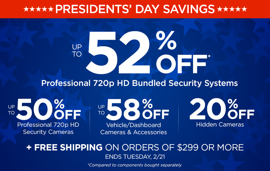 Presidents' Day Sale! Hurry, ends 2/21/17!