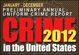 FBI 2012 preliminary crime report