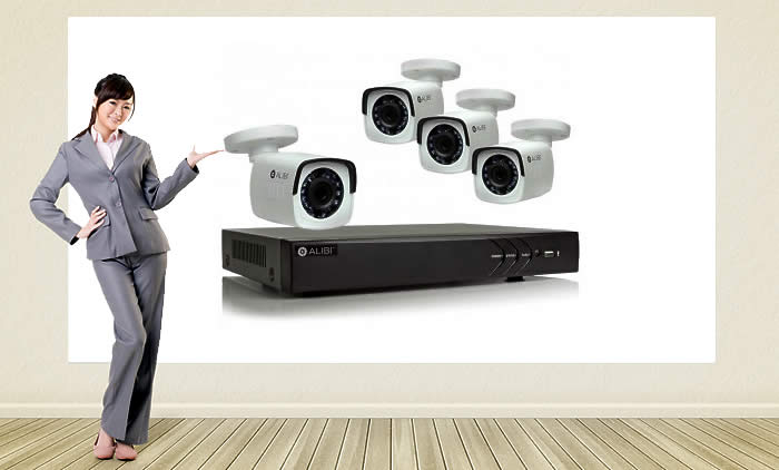Meet the Alibi 4-Camera HD Video Security System
