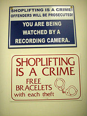 Security camera sign