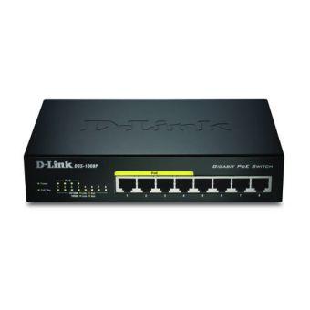 D-Link 8-Port Gigabit Ethernet PoE Switch