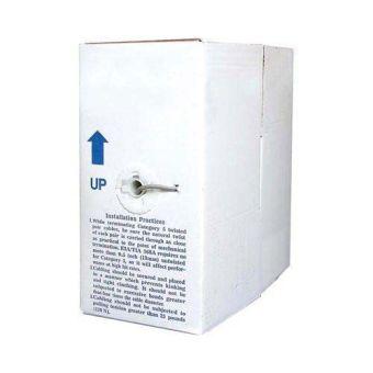 UTP Plenum Rated 1000 ft CAT6 Bulk Cable - Gray