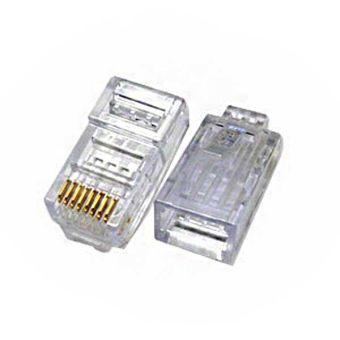 Plastic RJ45 Male Connectors (100 Pk)
