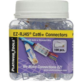 Plastic RJ45 Cat6 Connectors (100 Pk)