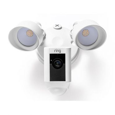 Ring™ Video Floodlight with 2-Way Talk and Siren - White