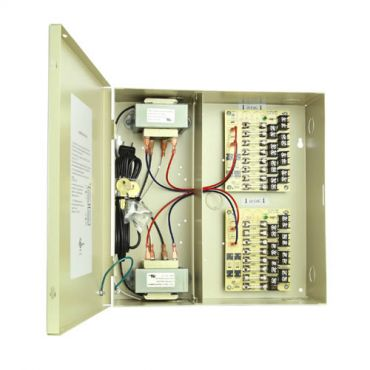 16 Camera Power Supply - 24 Vac 16.8 Amp with Leads