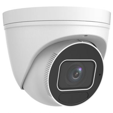 5 Megapixel Starlight Varifocal Vandal-Resistant IP Turret Camera, 131 Feet Night Vision