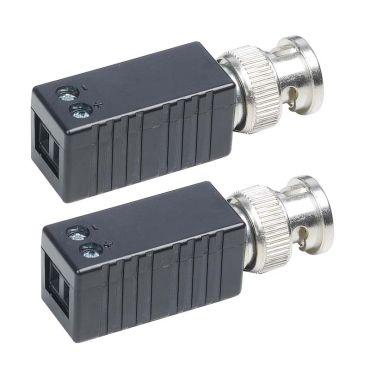 HD-TVI/CVI/AHD Mini Video Balun Pair with Screw Terminals