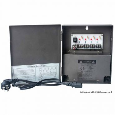 4-Channel 12 Vdc 5 Amp UL-Listed Power Supply Box