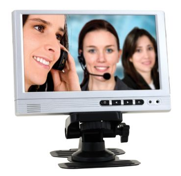 """7"""" 1080p Full-HD HDMI/VGA/RCA Color LCD Monitor with Speaker"""