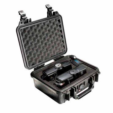 Pelican 1200 Crushproof Black Case with Customizable Foam Insert