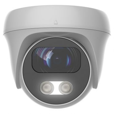 8 megapixel 4-1 White Light Fixed Turret Camera with 80 ft. Night Vision and Built-in Audio