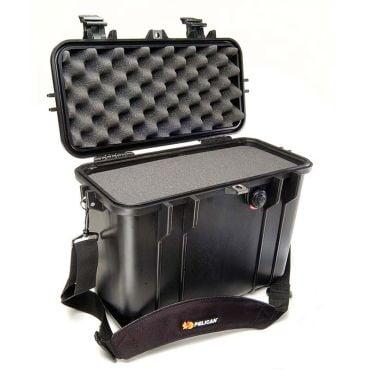 Pelican 1430 Crushproof Black Top Loader Case with Foam Insert