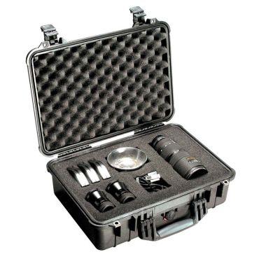 Pelican 1500 Crushproof Black Case with Customizable Foam Insert