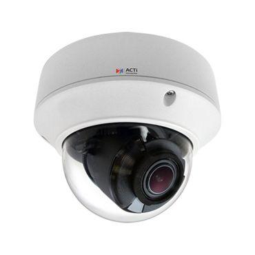 ACTi 4MP 130' IR WDR IP 4.3x Zoom Dome Security Camera